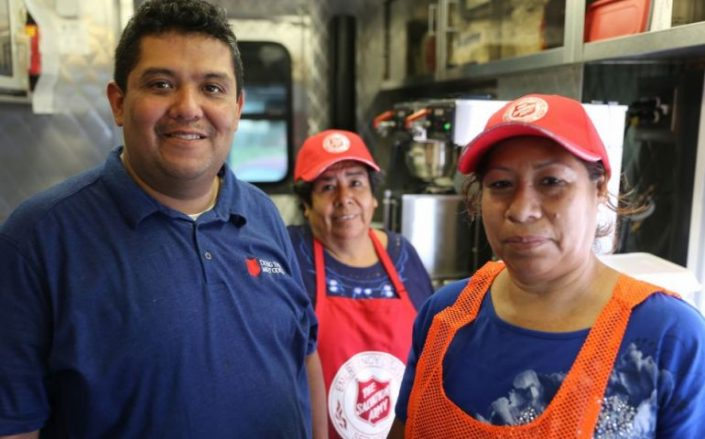 Trained Emergency Disaster volunteers and corporate partners played a key part in the massive response efforts of The Salvation Army after Hurricane Harvey.