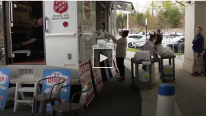 The 29 diner partners with the Salvation Army to deliver meals to front line workers at Fair Oaks Inova Hospital.