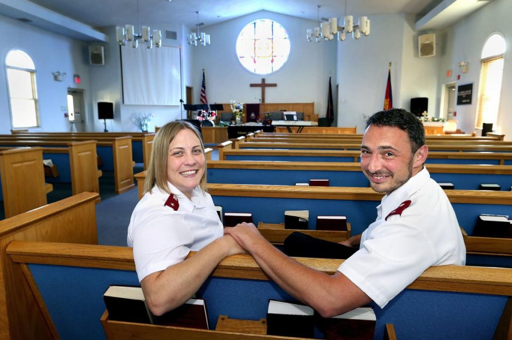Winchester - New Salvation Army leaders on the job